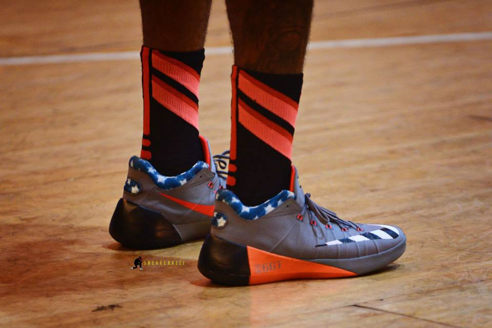 99e1b20e279b Paul George in his new Nike Hyperdunk 2015 low PE