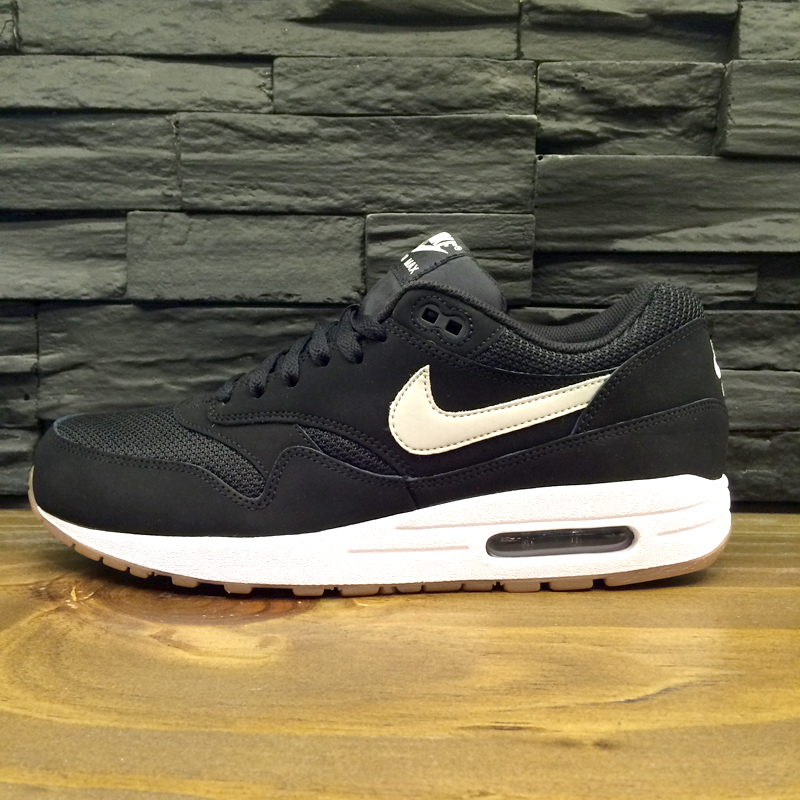 brand new 1b8e5 aa371 Nike Air Max 1 Essential Black White-Gum