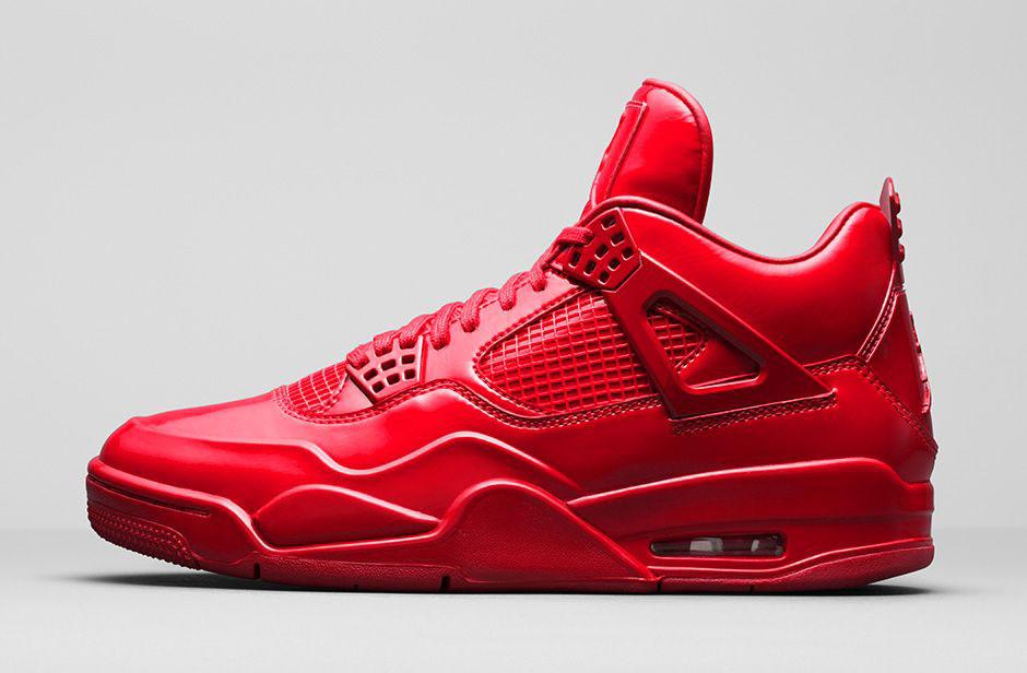 red air jordan shoes