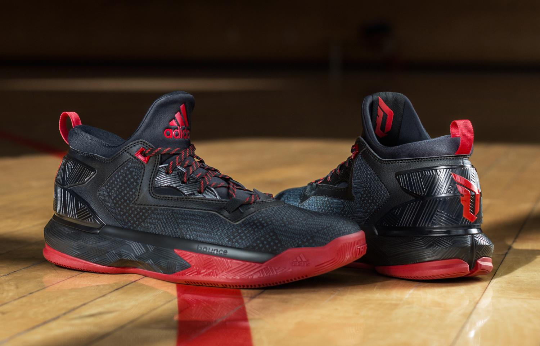 Mens Adidas D Lillard 2 Basketball Shoe Black//Red Dame Damian F37124