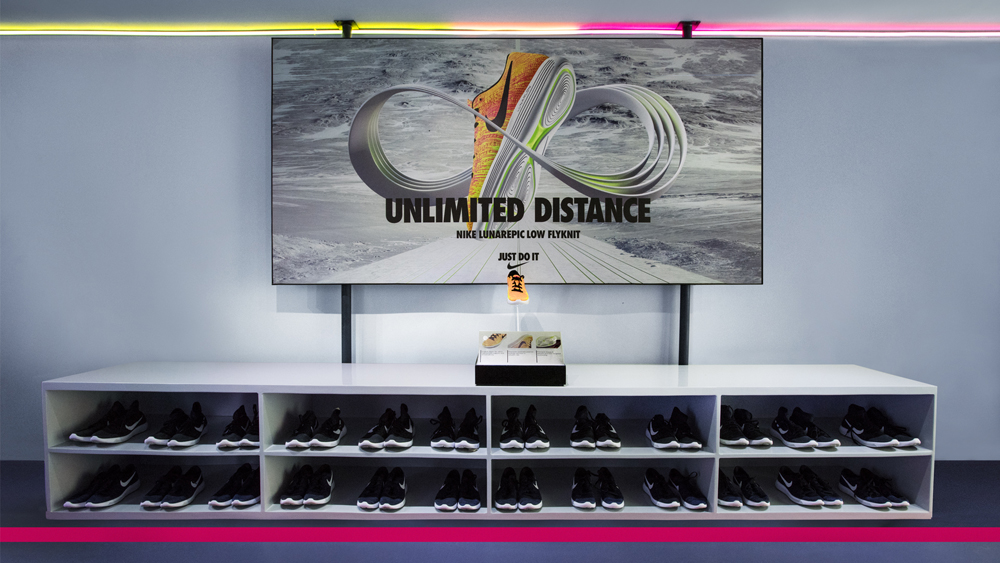 Consumers can trial Nikes latest footwear innovations at the Unlimited Stadium