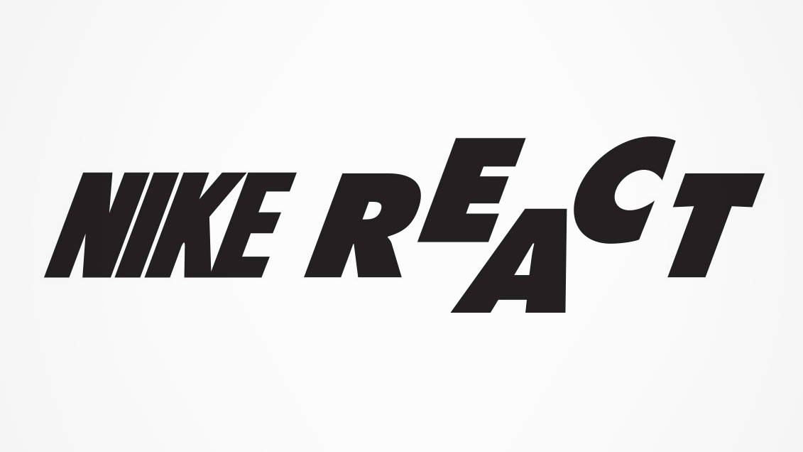 sports shoes 1f4c8 58f1c Nike React logo original. Nike React is part of Nike s cushioning  revolution, redefining what s possible with foam and other ...