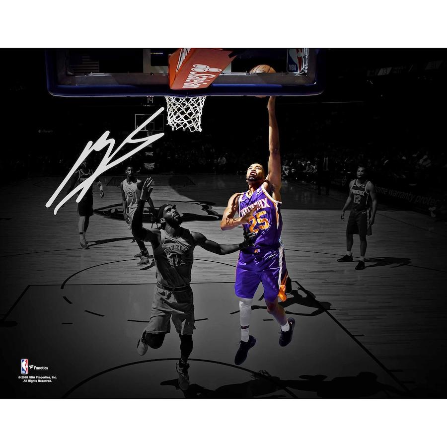 Mikal Bridges Phoenix Suns Autographed 11_ x 14_ Spotlight Photograph